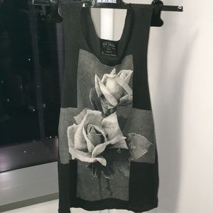 All Saints cross and roses tank top